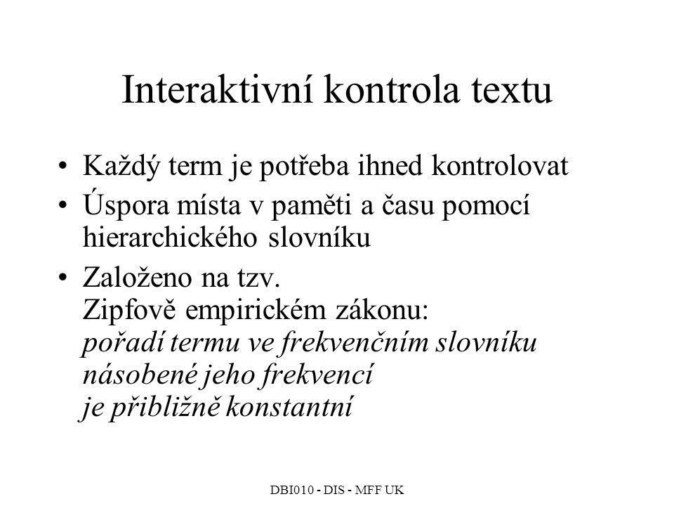 Interaktivní kontrola textu