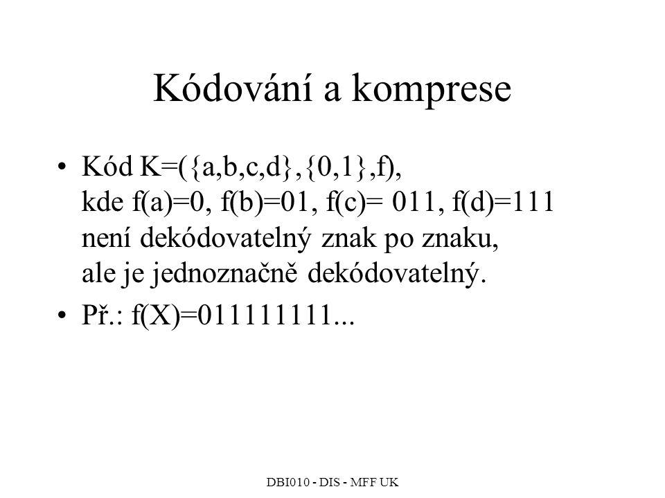 Kódování a komprese