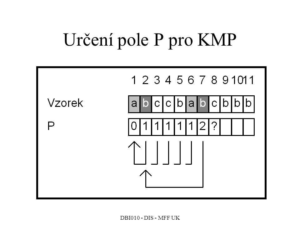 Určení pole P pro KMP DBI010 - DIS - MFF UK 54