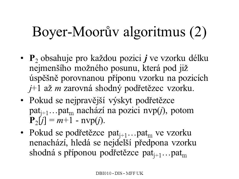 Boyer-Moorův algoritmus (2)