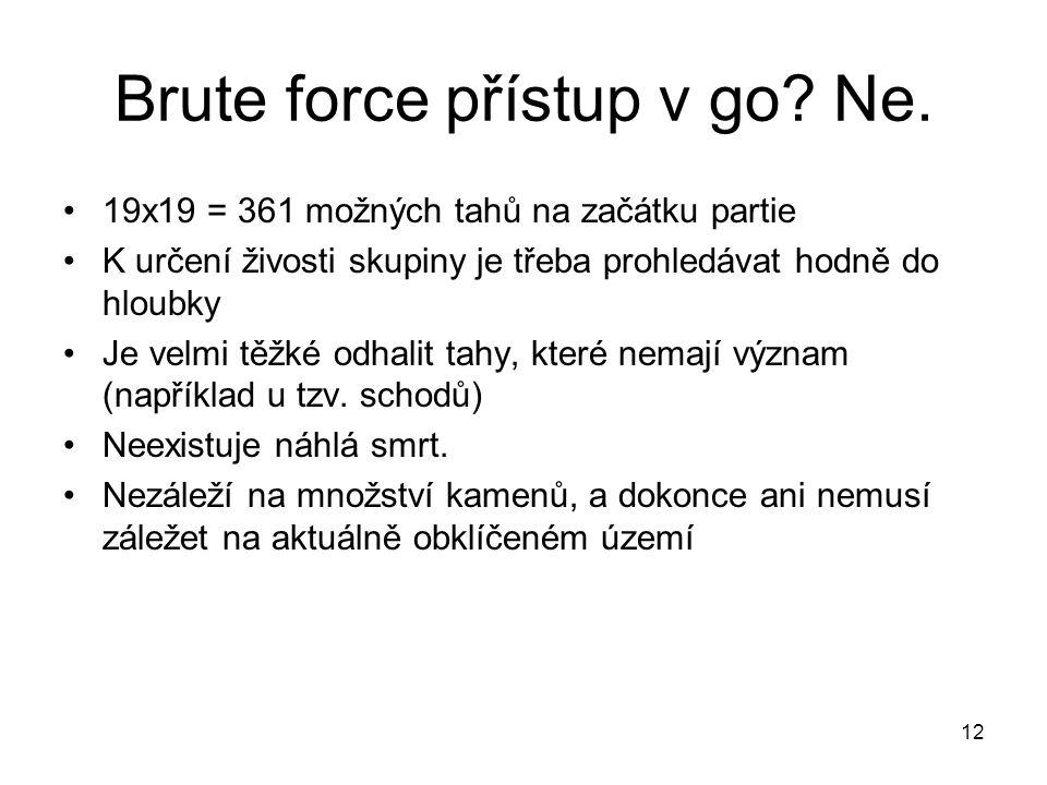 Brute force přístup v go Ne.