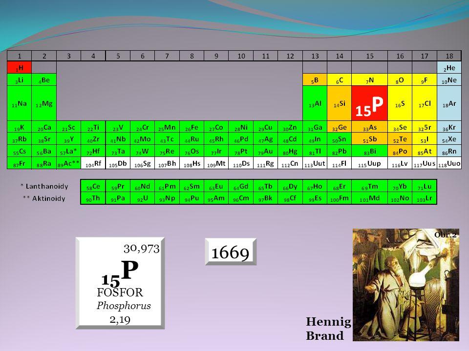 Hennig Brand Obr.2 30,973 15P FOSFOR Phosphorus 2,19 1669