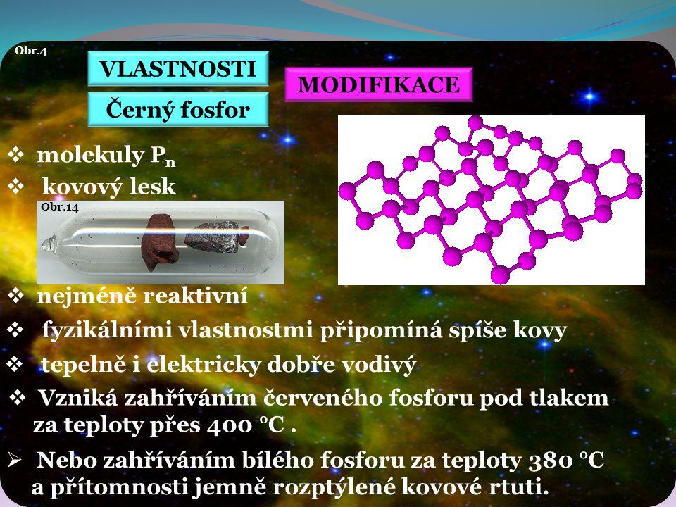 VLASTNOSTI MODIFIKACE Černý fosfor