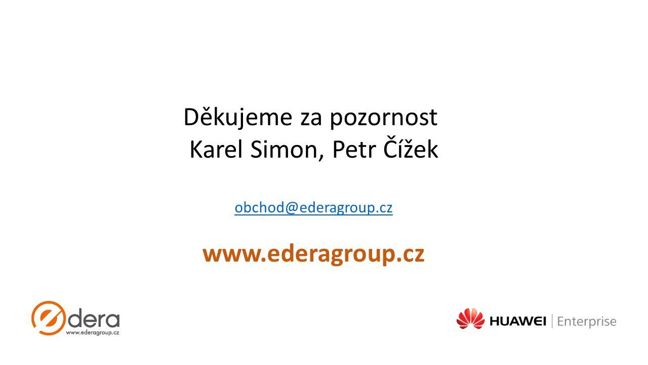 Děkujeme za pozornost Karel Simon, Petr Čížek www.ederagroup.cz
