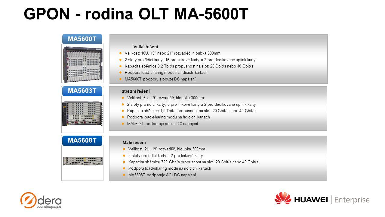 GPON - rodina OLT MA-5600T MA5600T MA5603T MA5608T Velké řešení