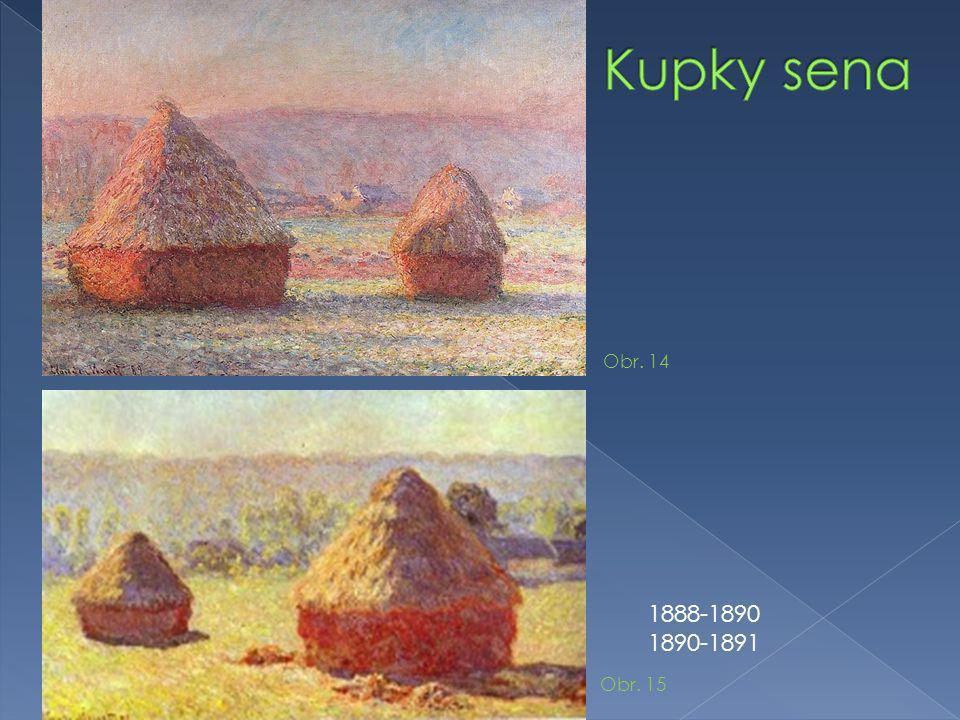 Kupky sena Obr. 14 1888-1890 1890-1891 Obr. 15