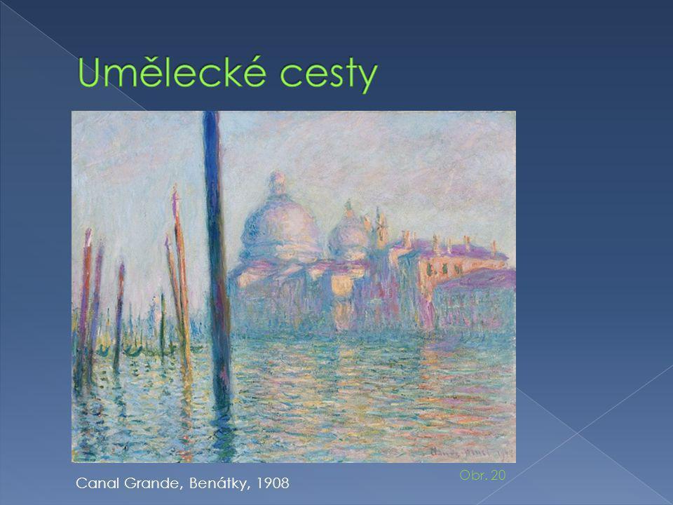 Umělecké cesty Obr. 20 Canal Grande, Benátky, 1908