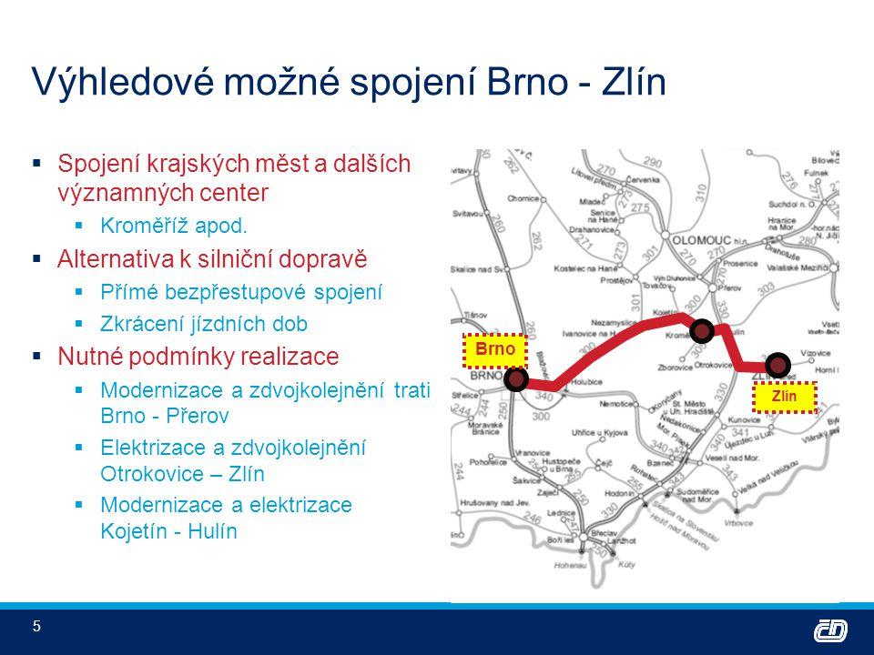 Výhledové možné spojení Brno - Zlín