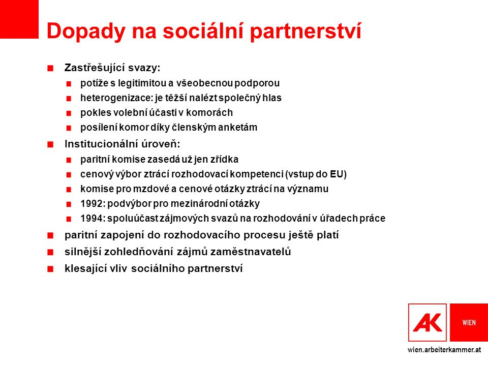 Dopady na sociální partnerství