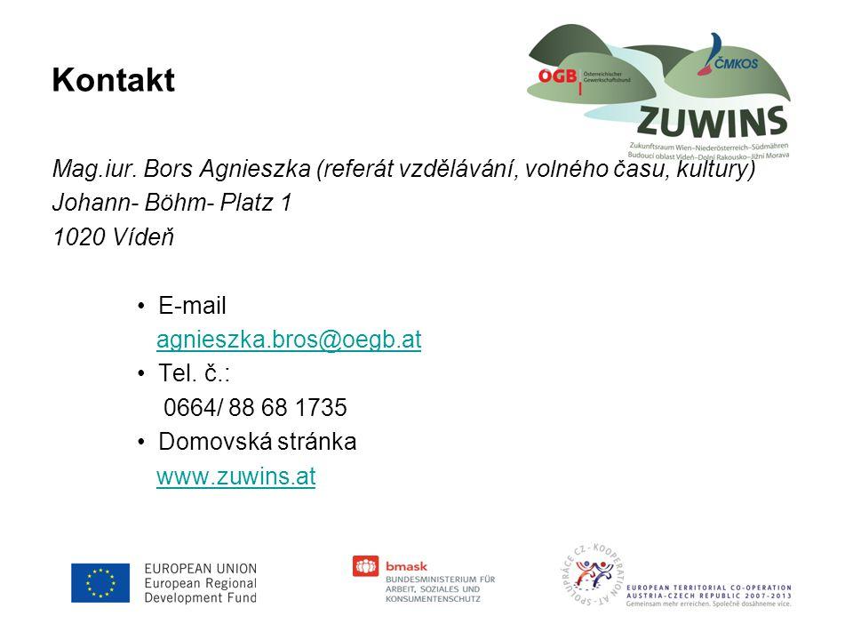 Kontakt Mag.iur. Bors Agnieszka (referát vzdělávání, volného času, kultury) Johann- Böhm- Platz 1.