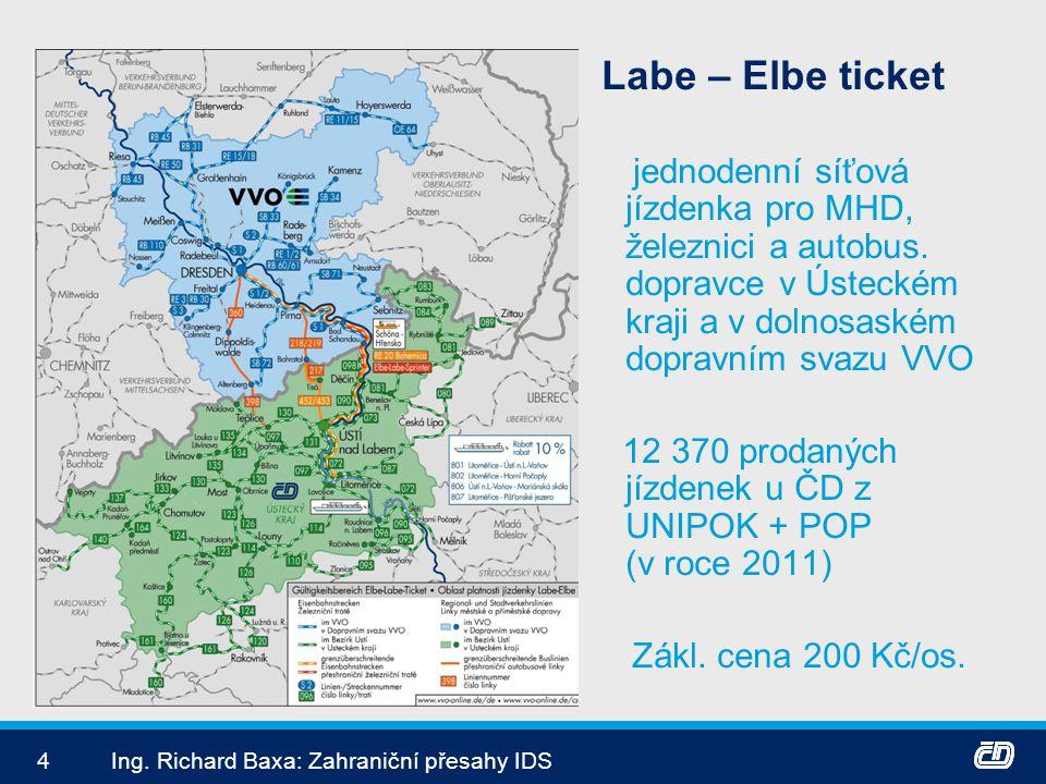 12 370 prodaných jízdenek u ČD z UNIPOK + POP (v roce 2011)
