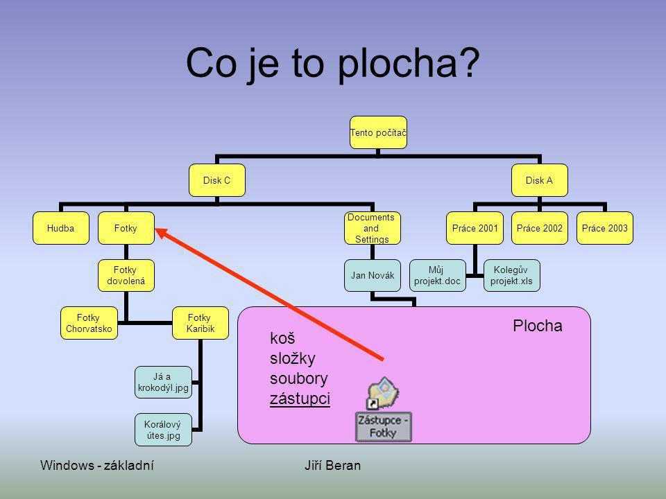 Co je to plocha Plocha koš složky soubory zástupci Windows - základní