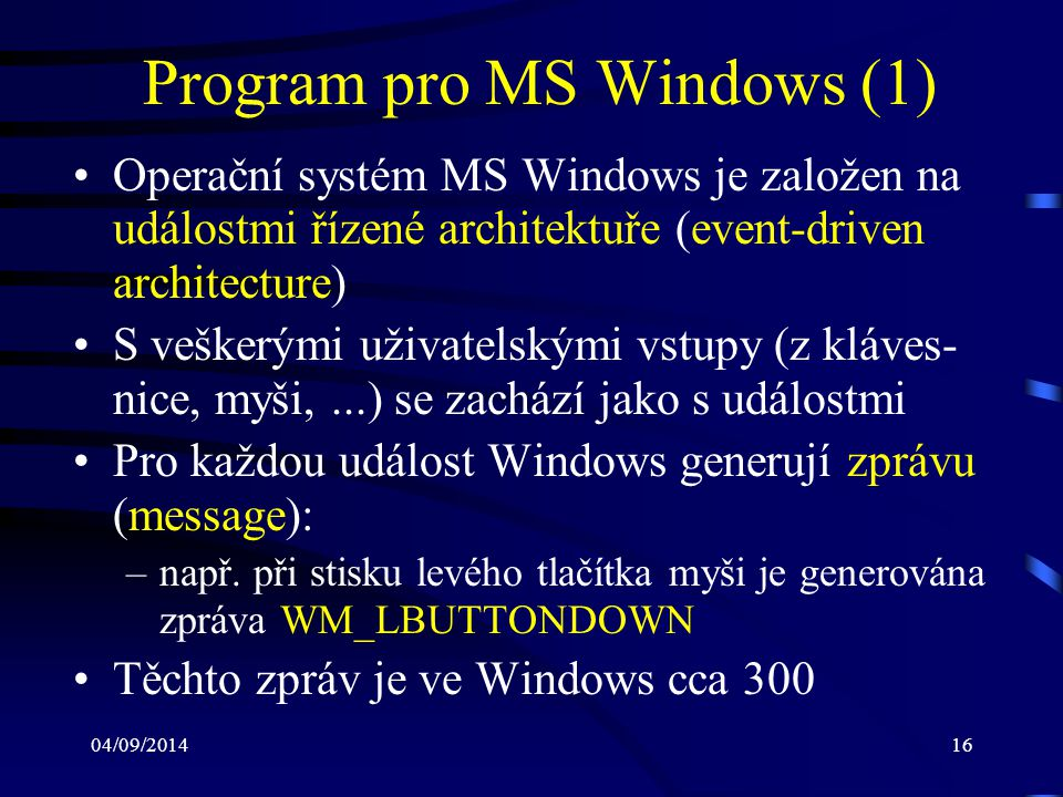 Program pro MS Windows (1)