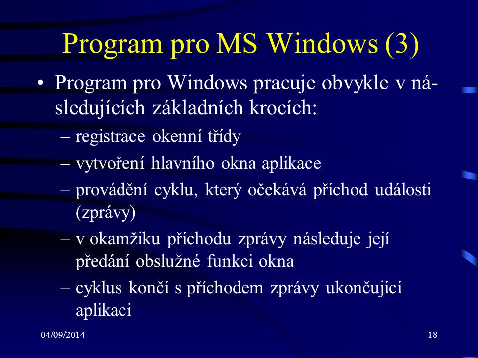 Program pro MS Windows (3)