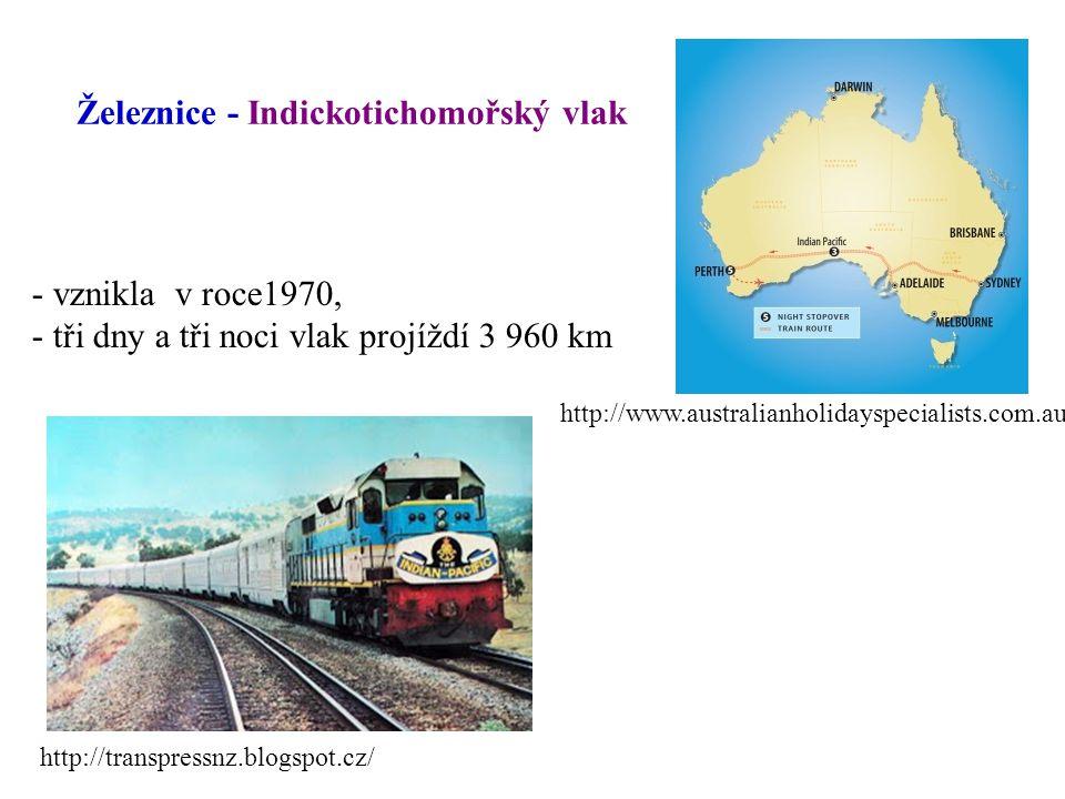 Železnice - Indickotichomořský vlak