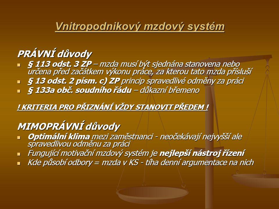 Vnitropodnikový mzdový systém