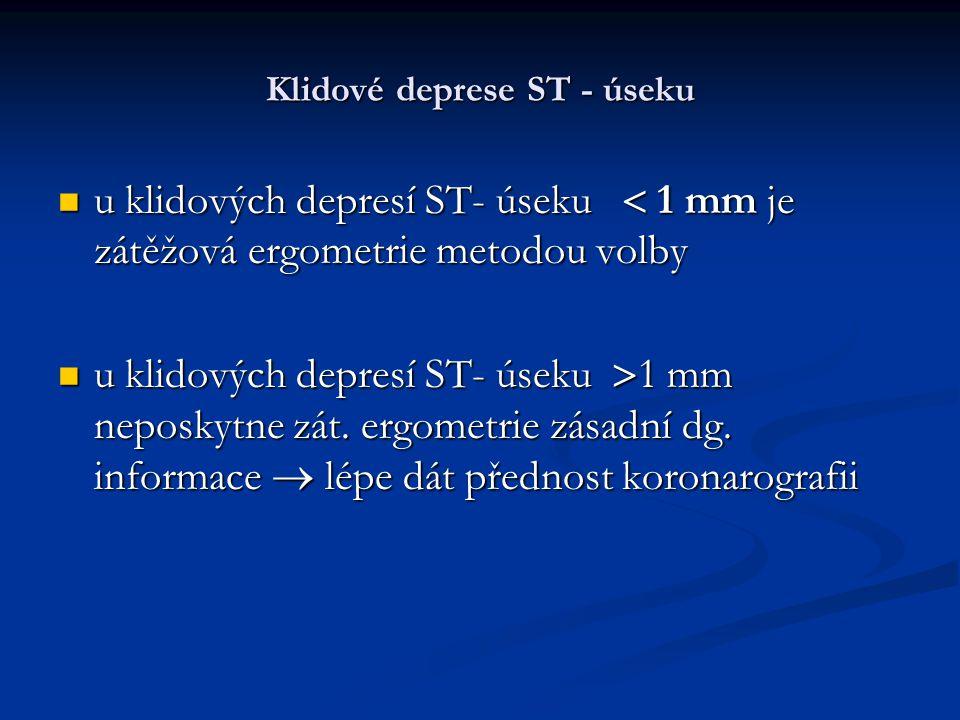 Klidové deprese ST - úseku