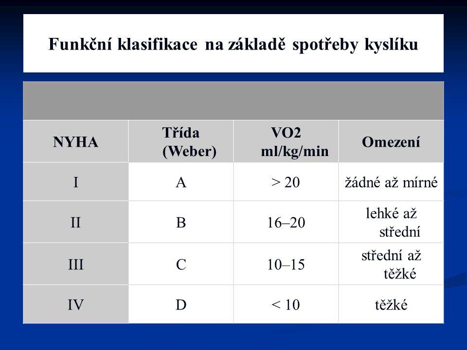 Funkční klasifikace na základě spotřeby kyslíku