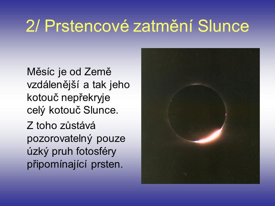 2/ Prstencové zatmění Slunce