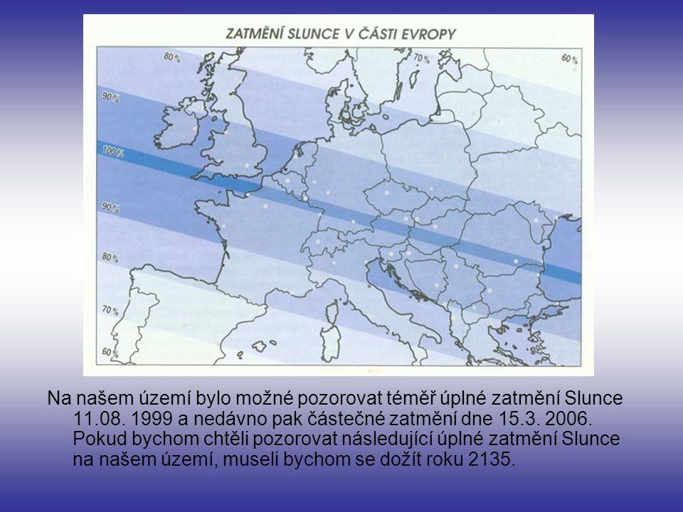 Na našem území bylo možné pozorovat téměř úplné zatmění Slunce 11. 08
