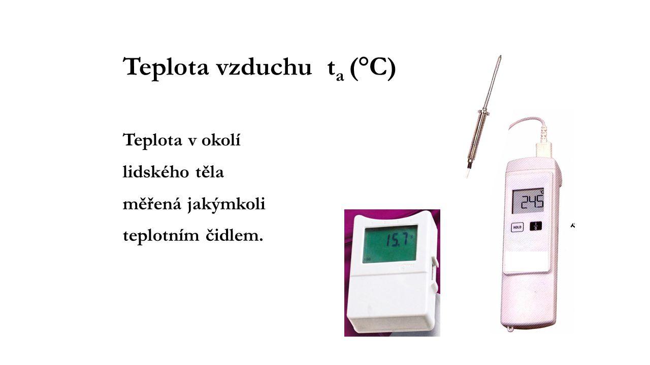Teplota vzduchu ta (°C)