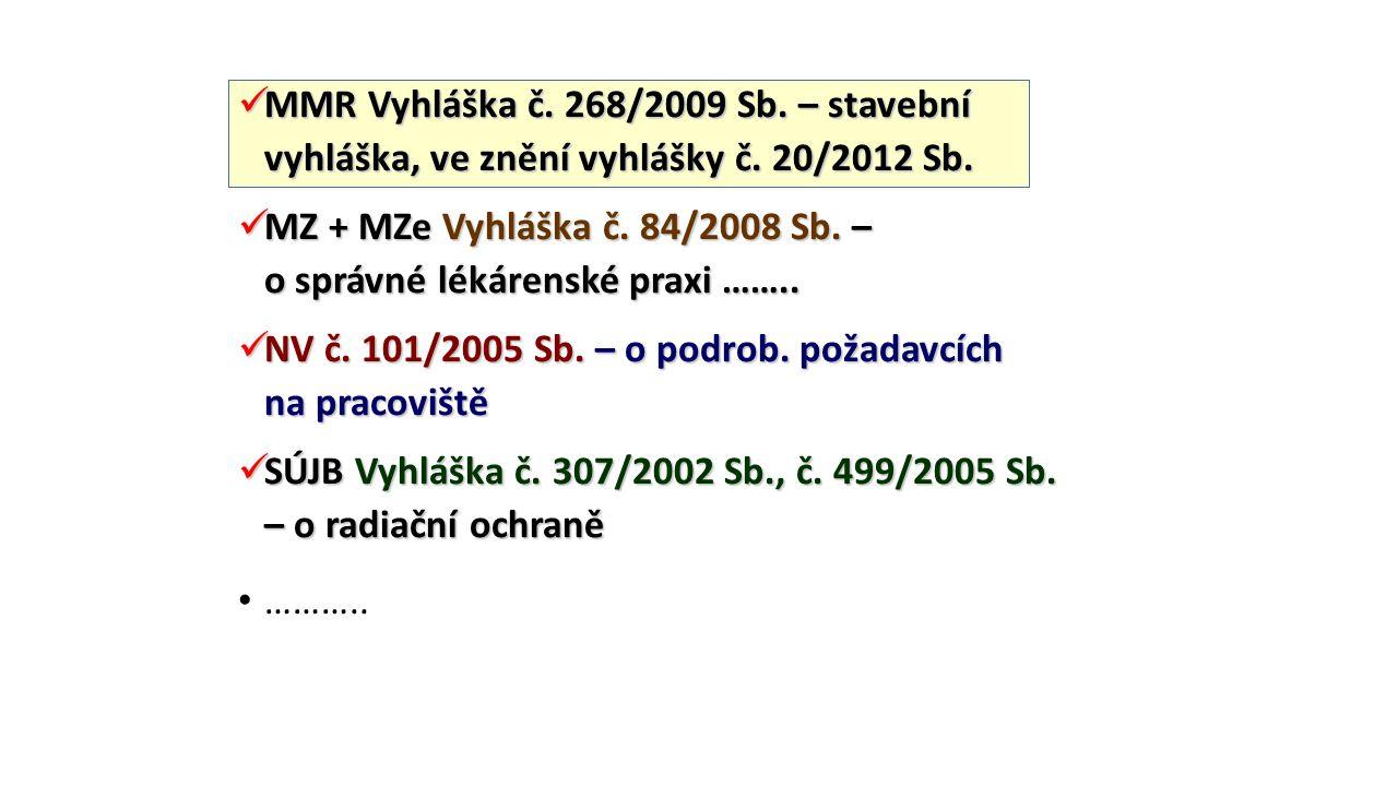 MMR Vyhláška č. 268/2009 Sb. – stavební vyhláška, ve znění vyhlášky č