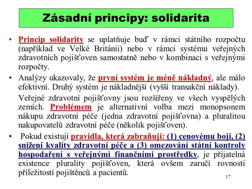 Zásadní principy: solidarita
