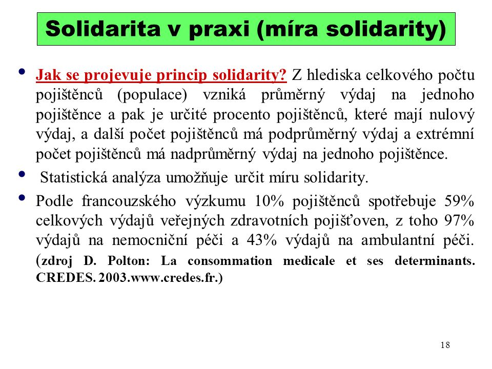 Solidarita v praxi (míra solidarity)