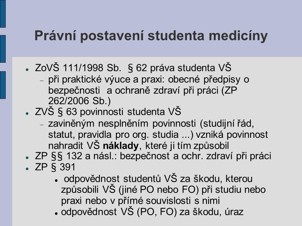 Právní postavení studenta medicíny
