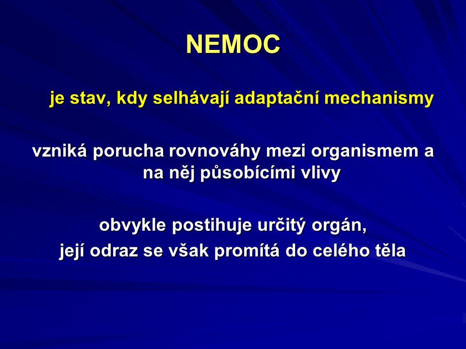 NEMOC je stav, kdy selhávají adaptační mechanismy