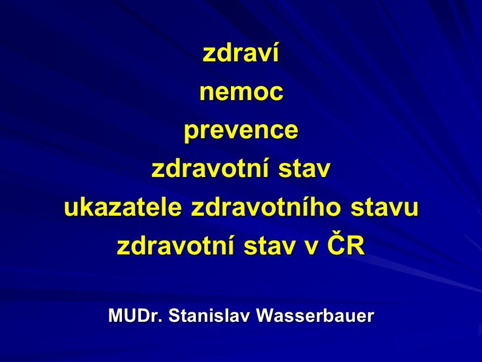 ukazatele zdravotního stavu MUDr. Stanislav Wasserbauer