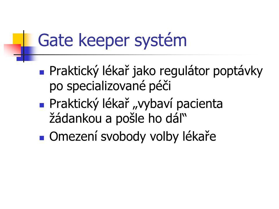 """Gate keeper systém Praktický lékař jako regulátor poptávky po specializované péči. Praktický lékař """"vybaví pacienta žádankou a pošle ho dál"""