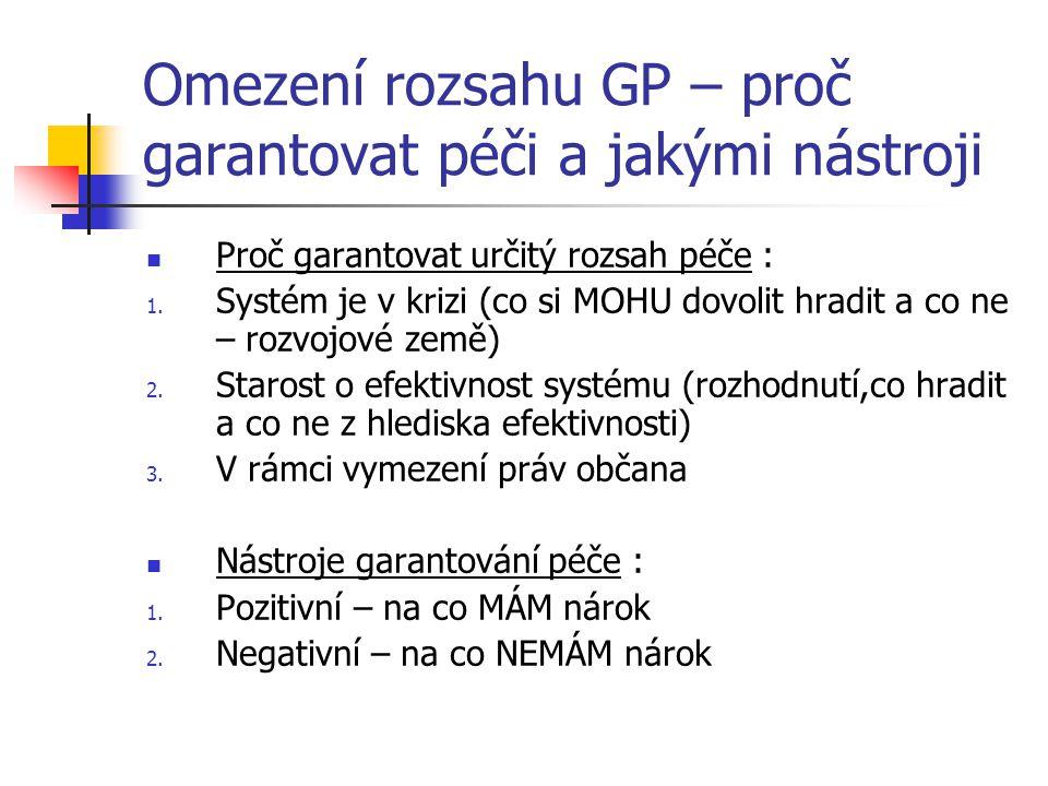 Omezení rozsahu GP – proč garantovat péči a jakými nástroji