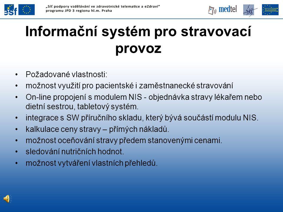 Informační systém pro stravovací provoz