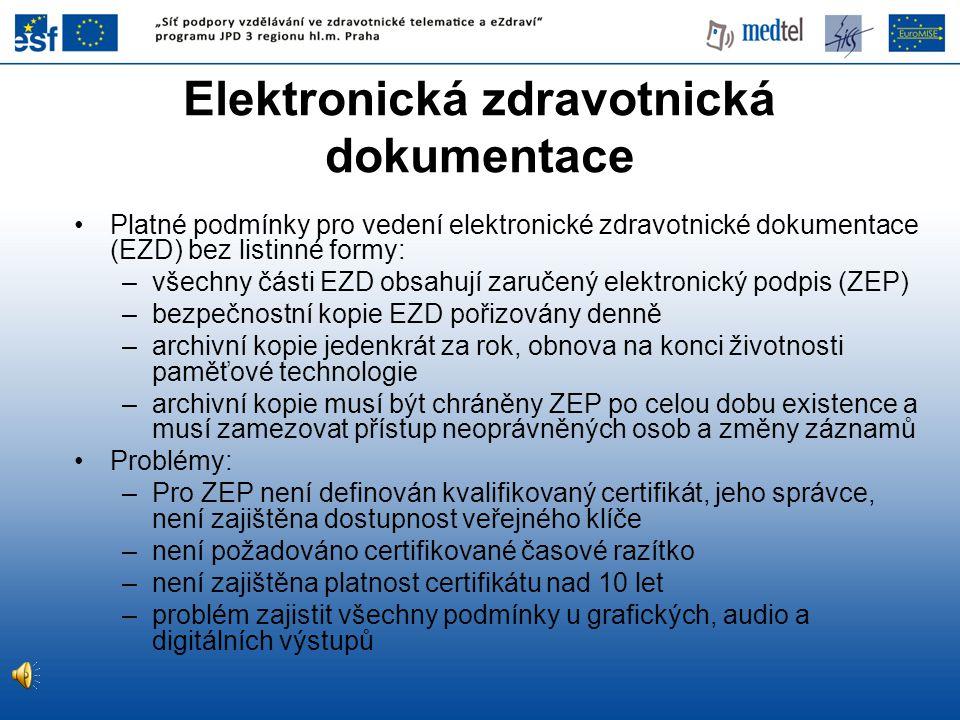 Elektronická zdravotnická dokumentace