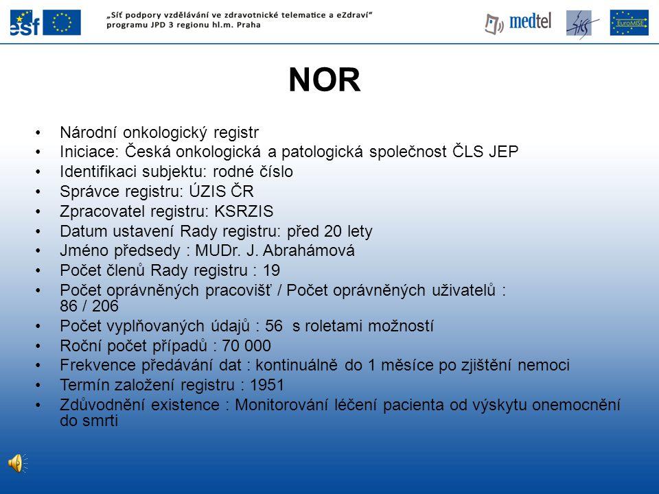 NOR Národní onkologický registr
