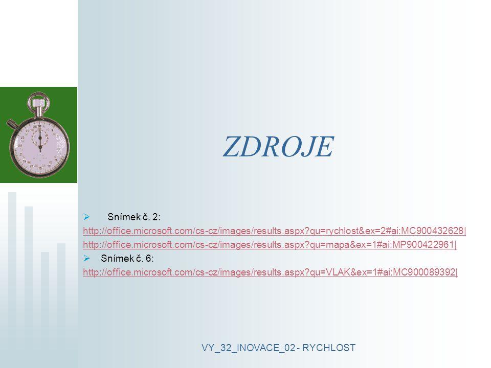 VY_32_INOVACE_02 - RYCHLOST