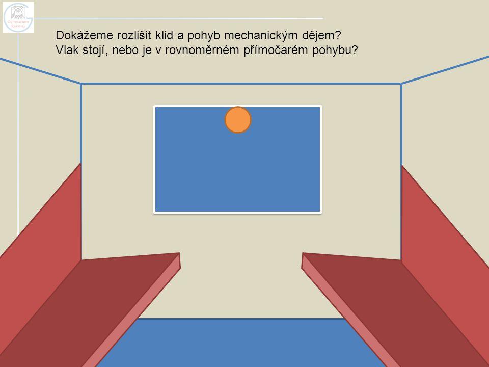 Dokážeme rozlišit klid a pohyb mechanickým dějem