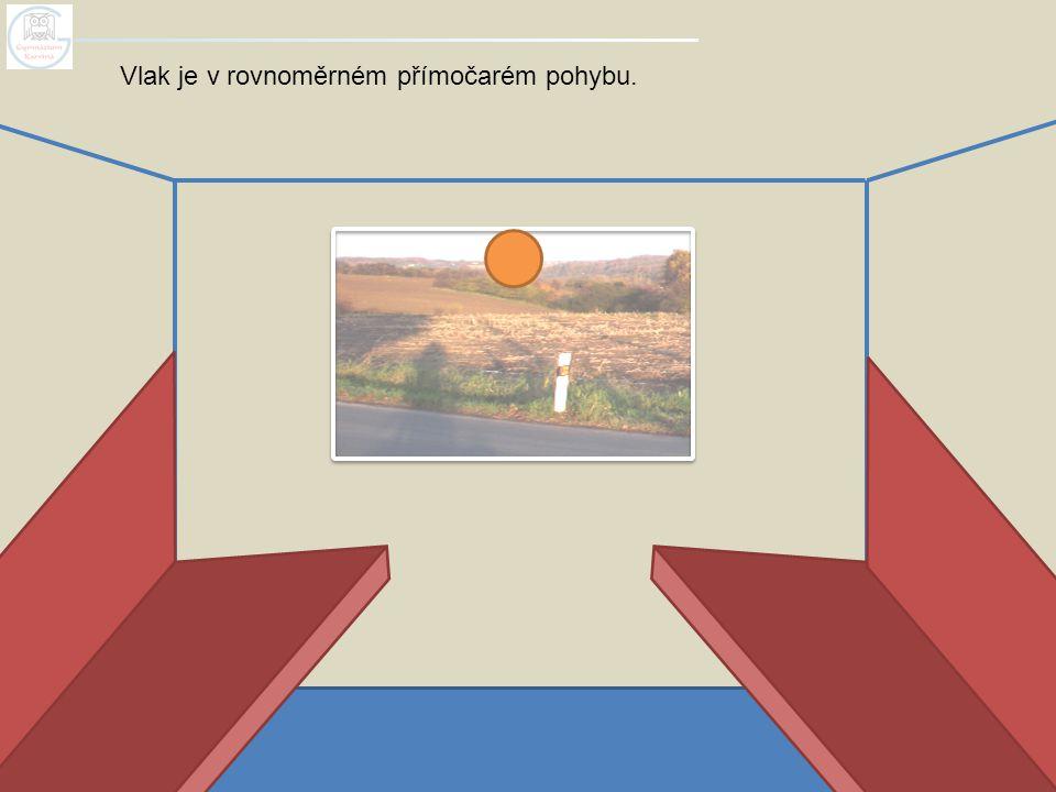 Vlak je v rovnoměrném přímočarém pohybu.