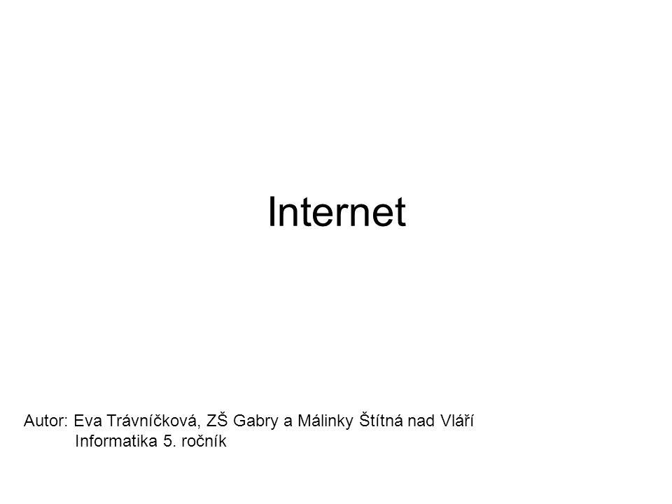 Internet Autor: Eva Trávníčková, ZŠ Gabry a Málinky Štítná nad Vláří