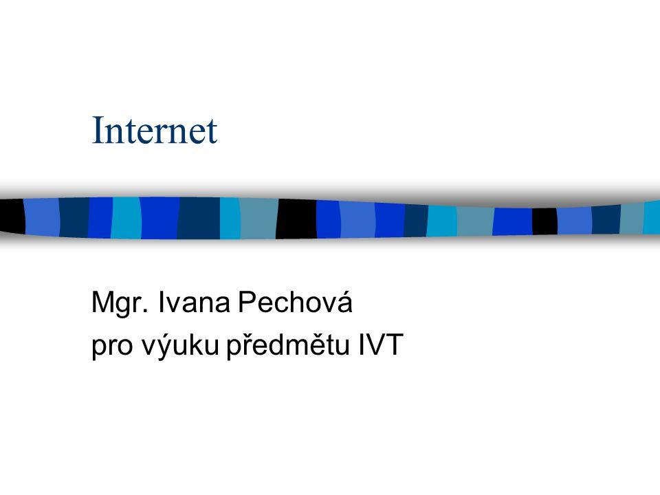 Mgr. Ivana Pechová pro výuku předmětu IVT
