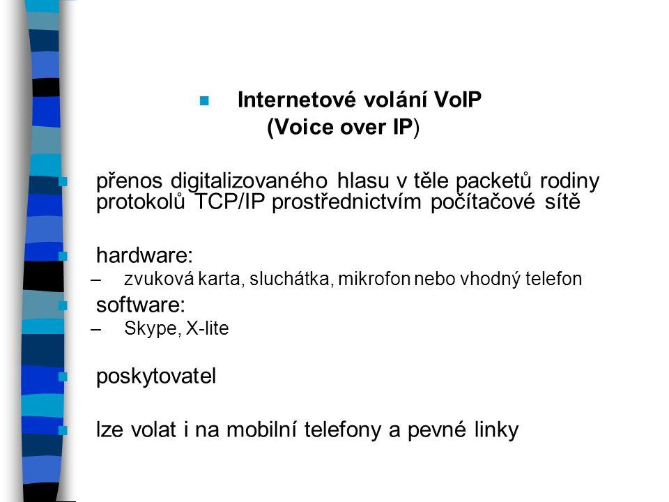 Internetové volání VoIP