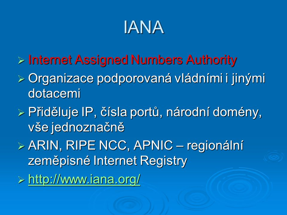 IANA Internet Assigned Numbers Authority