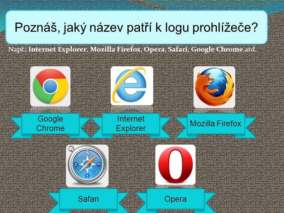 Poznáš, jaký název patří k logu prohlížeče