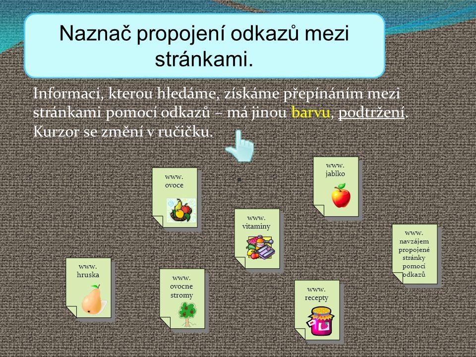 Odkazy Naznač propojení odkazů mezi stránkami.