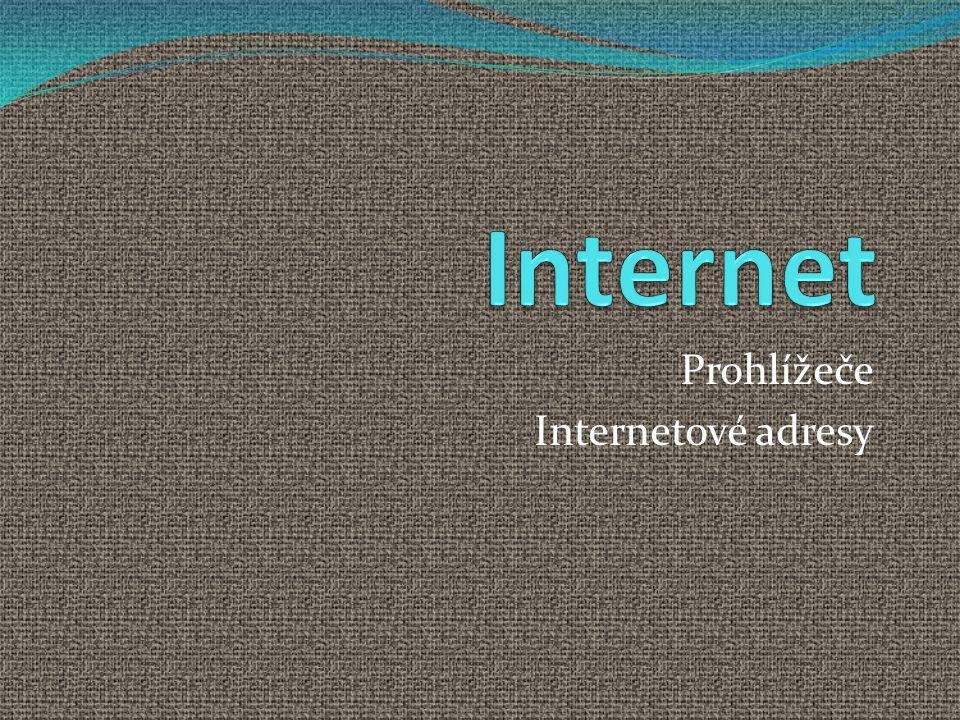 Prohlížeče Internetové adresy