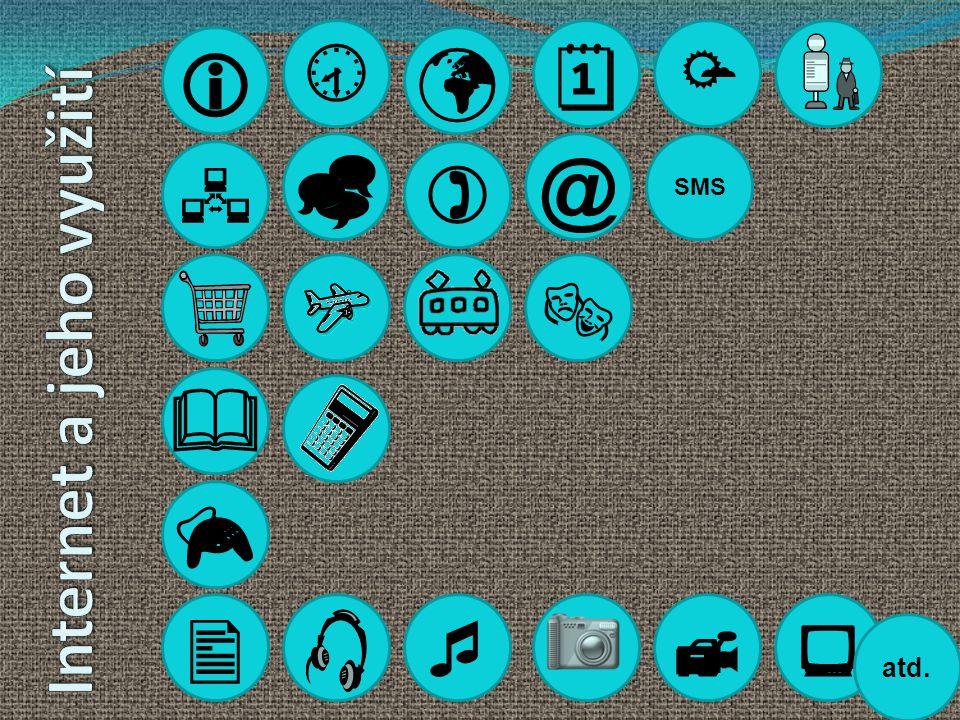       @          Internet a jeho využití atd. SMS