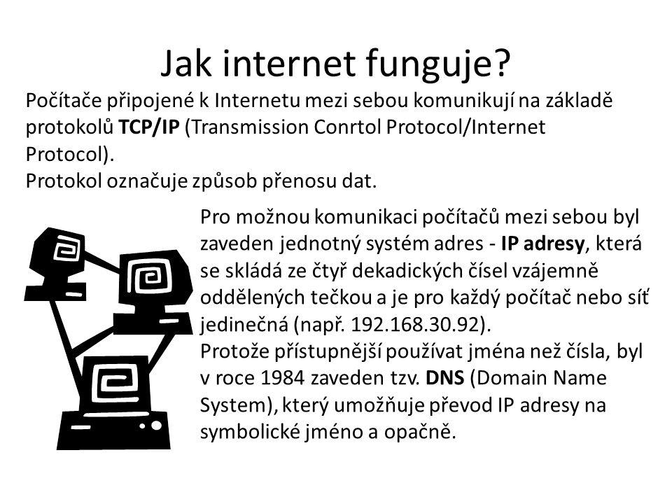 Jak internet funguje