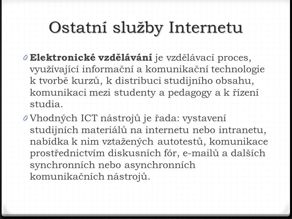 Ostatní služby Internetu