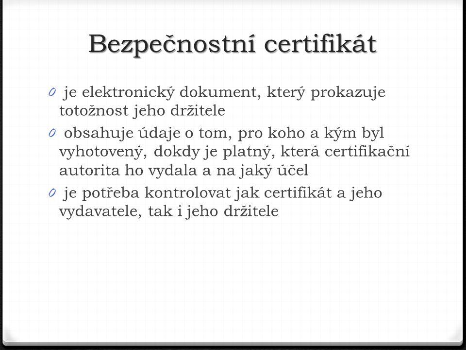 Bezpečnostní certifikát
